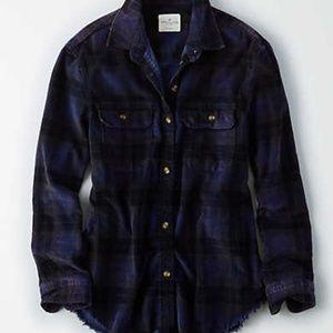 Plaid Corduroy Cabin Shirt NWOT